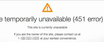 Site Unavailable - http error 451 unavailable for legal reasons plagiarism today