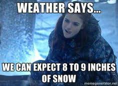 Jon Snow Memes - jon snow ygritte humor meme 8 9 inches of snow motley news photos