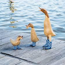 spotted wellies garden ducks handmade ducks uncommongoods