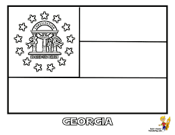 flag of georgia coloring page and coloring page eson me