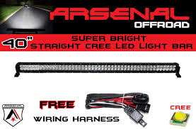 Led Light Bar Utv by Amazon Com 1 40 Inch 240w Cree Led Light Bar By Arsenal Offroad