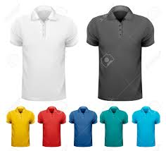 black and white and color men t shirts design template vector