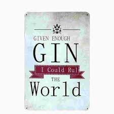 2017 gin vintage home decor tin sign shabby chic plaque metal