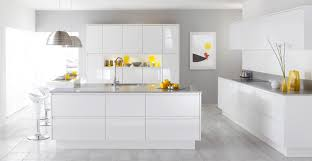 Modern White Kitchen Designs Kitchen Stunning White Kitchen Design With Chairs And