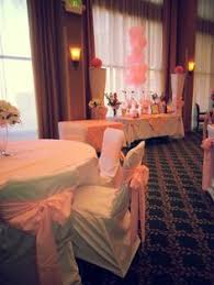 baby shower chair covers pink baby shower decor and candy table in tulare ca we rent the