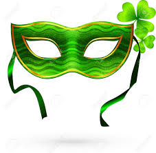 green mardi gras mask green carnival mask with clovers royalty free cliparts vectors