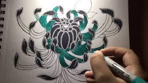 japanese chrysanthemum tattoo design youtube