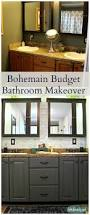 art is beauty budget bohemian bathroom makeover before and after