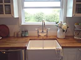 kitchen amusing window treatment and wooden countertops with