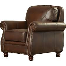 Leather Tufted Chair Furniture Galerkin Furniture Leather Club Chair Leather