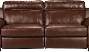 Genuine Leather Reclining Sofa Innovative Genuine Leather Reclining Sofa Exhilaration Chocolate
