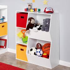 riverridge kids 3 cubby 2 veggie bin floor cabinet in white 02