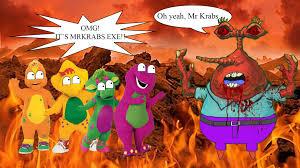 barney friends meets mrkrabs exe waysoon0413 deviantart