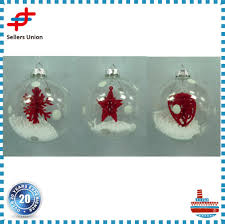 wholesale clear glass christmas ball ornaments craft buy