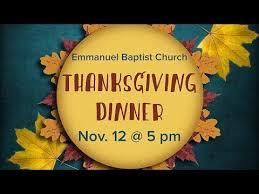 emmanuel baptist church raleigh nc thanksgiving dinner