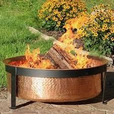 Wood Firepit Sunnydaze Hammered 100 Copper Wood Burning Pit