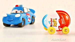 cars 3 mcqueen surprise eggs car race play doh stop motion disney