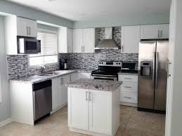 Kitchen Gray Black Backsplash Black And White Kitchen Decor