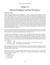 Data Warehouse Analyst Job Description Chp13