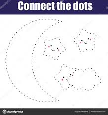 connect the dots children educational game printable activity
