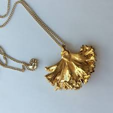 real leaf necklace images Real leaf jewellery gold plated kale pendant mia elizabeth jpeg
