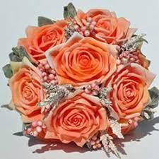 Peach Flowers Silk Wedding Flowers Artificial Wedding Flowers U0026 Bridal Bouquets