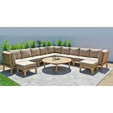 Teak Sectional Patio Furniture White Teak Patio Furniture Shop The Best Outdoor Seating