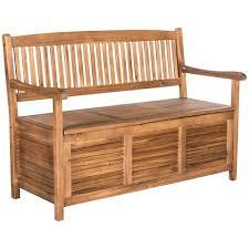 Garden Storage Bench Westmore Teak Brown Wood Outdoor Storage Bench 1t832 Lamps Plus