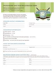 Golf Tournament Sign Up Sheet Template Charity Sponsor Form Renegadesolutions Us