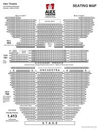 seating chart alex theatre
