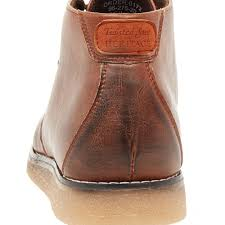 mens brown wedge sole casual boots