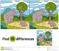 find differences elephant stock vector image 53271963