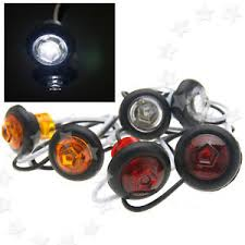 small round led lights 2x 12v universal white amber red small round led button side marker