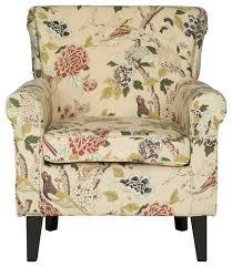 Printed Accent Chair Hazina Club Chair Green Printed Armchairs And Accent Chairs