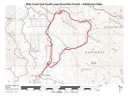 Buffalo Creek Trail Map Billy Creek Trail South Loop Ouachita Forest 7 Mi