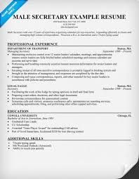 Example Secretary Resume Free Male Secretary Resume Resumecompanion Com Resume Samples