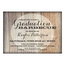 graduation party invitations country wood bbq grad party invitation card
