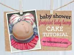 how to make a pregnant belly cake with footprint cakecentral com