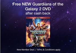 free guardians of the galaxy vol 2 dvd blu ray after cash