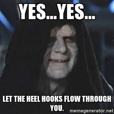 Hook Meme - hit my first heel hook in a live roll today in training bjj
