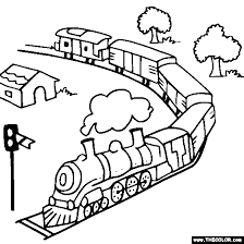 Rail Color Page Train And Locomotive Online Coloring Pages Page 1