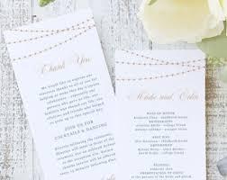 printable wedding programs templates wedding program template etsy