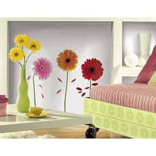 roommates rmk1553scs small gerber daisies peel stick wall decals roommates rmk1553scs small gerber daisies peel stick wall decals decorative wall appliques amazon com