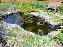 freshen small water garden pond ideas with stone border also