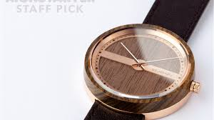 watches crafted from wood and steel with a maritime touch by