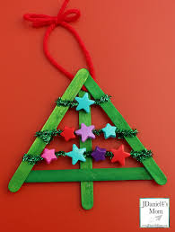 diy christmas decorations threaded star tree