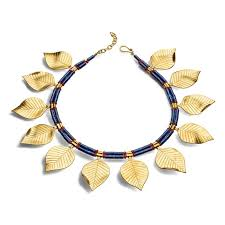 necklace golden images Sumerian golden leaves necklace the met store jpg