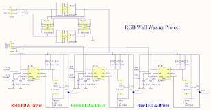 rgb led light wall washer circuit diagram jpg