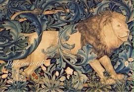 lovely arts and crafts william morris lion forest 6 x 6 or 152mm lovely arts and crafts william morris lion forest 6 x 6
