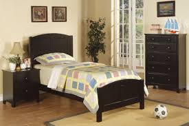 Twin Bed Youth Wood Twin Bed Cherry Black Oak White